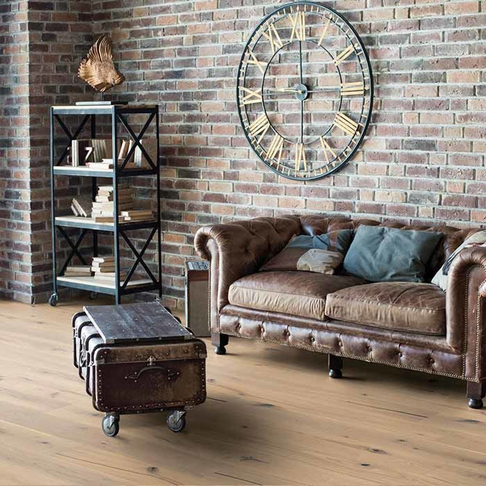 Skaben Parquet flooring special offer oak rustic white knotty oiled 1-plank wideplank 4V