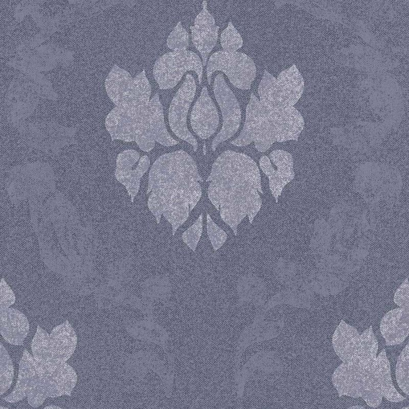 Skaben Tapete Baroque - Barocktapete Blau / Grau 10,05 m x 0,53 m