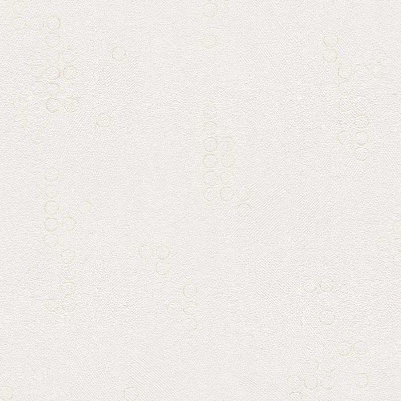 Skaben Tapete Dots / Circles - Punktetapete / Kreistapete Creme / Weiß 10,05 m x 0,53 m