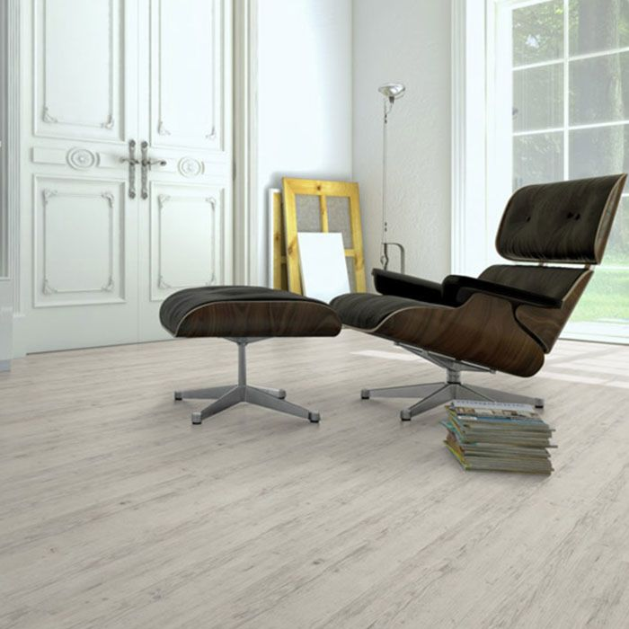 Skaben vinyl floor solid Life 55 oak rustic white 1-plank wideplank 4V for gluing