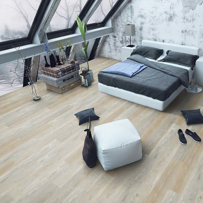 Skaben vinyl floor solid Life 30 Painted wood natural 1-plank wideplank for gluing