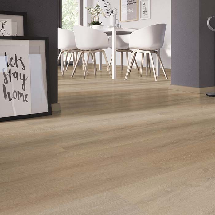Skaben vinyl floor solid Life 30 oak sawn dark 1-plank wideplank for gluing