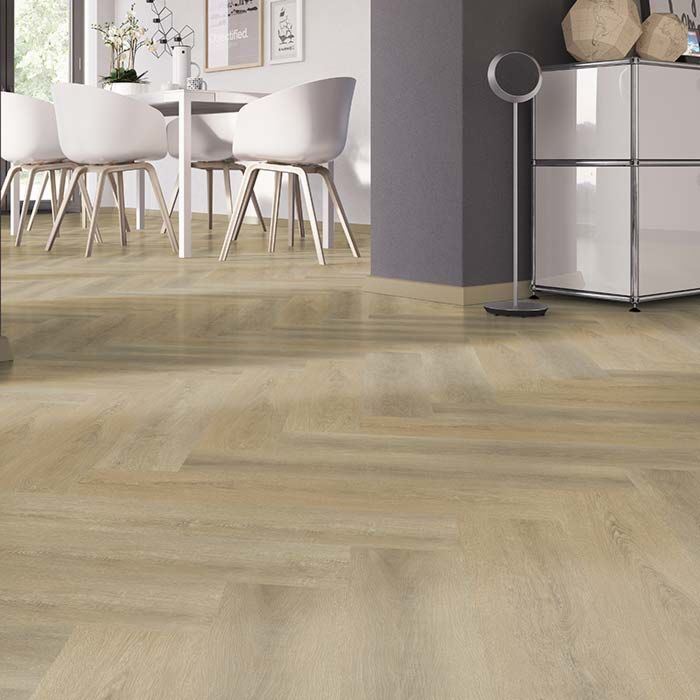 Skaben vinyl floor solid Life 30 oak sawn natural herringbone for gluing