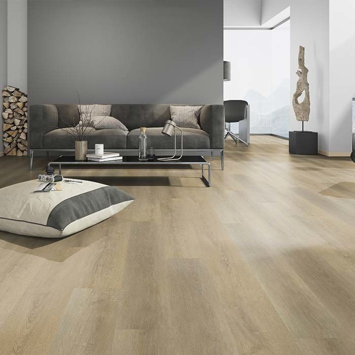 Skaben vinyl floor solid Life 30 oak sawn natural 1-plank wideplank for gluing