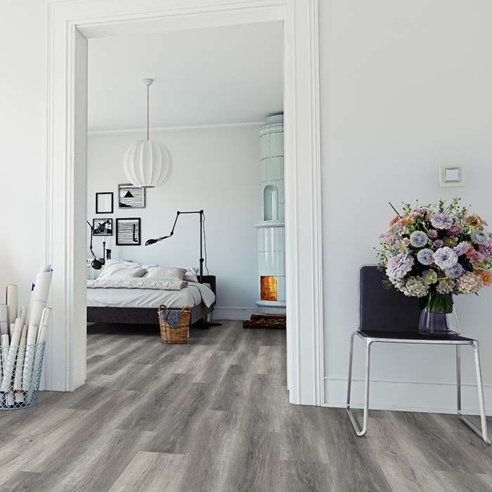 Skaben vinyl floor massive Life 30 Pure oak grey 1-plank wideplank for gluing