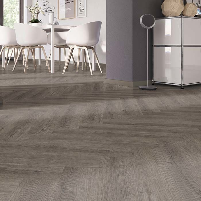 Skaben vinyl floor solid Life 30 castle dark oak herringbone to glue