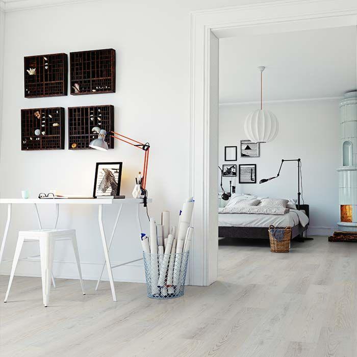 Skaben Vinylboden massiv Life Click 30 Meereiche Weiß 1-Stab Landhausdiele zum klicken