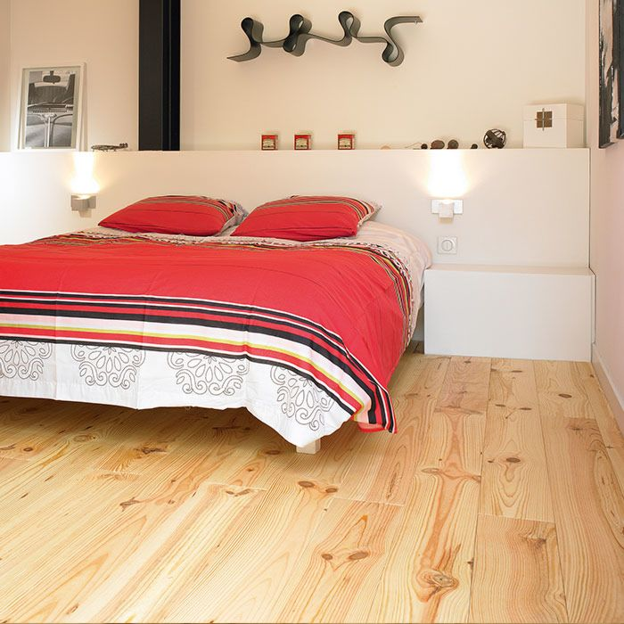 Skaben Parquet Solid Wood Plank French larch Rustic untreated 170mm Width 21mm Height 4V