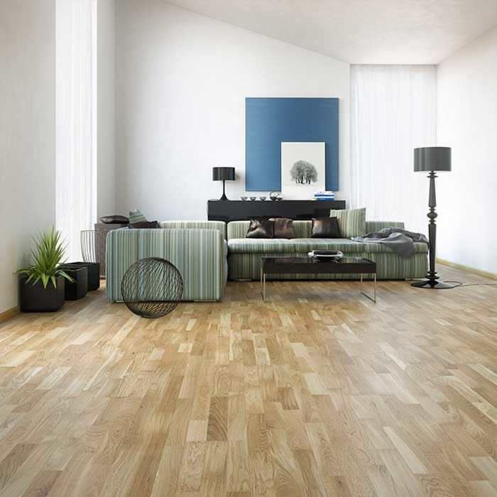 Skaben Parquet Premium 3-strip Oak Harmony lacquered Length 2200mm