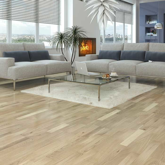 Skaben engineered wood flooring Premium 3-plank ship's floor oak Harmony white extra matt sealed length 1092mm