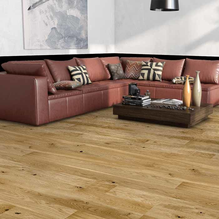 Skaben Parquet Premium 1-strip wide plank Oak Rustic extra matt finish brushed 4V