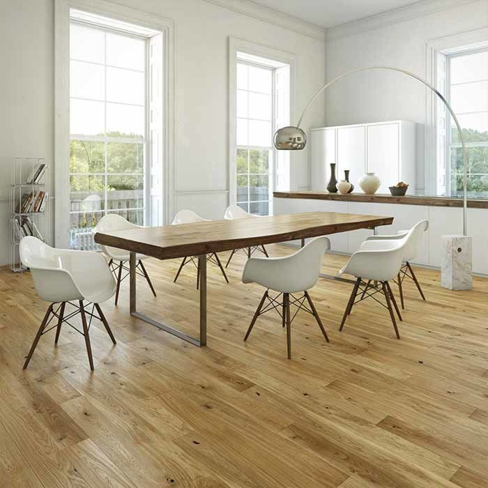 Skaben Parquet Premium 1-strip wide plank Oak Rustic naturally oiled brushed 180mm Width M4V
