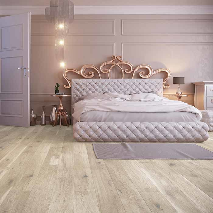 Skaben Parquet Premium 1-strip wide plank Oak Rustic naturally oiled white brushed 180mm Width M4V