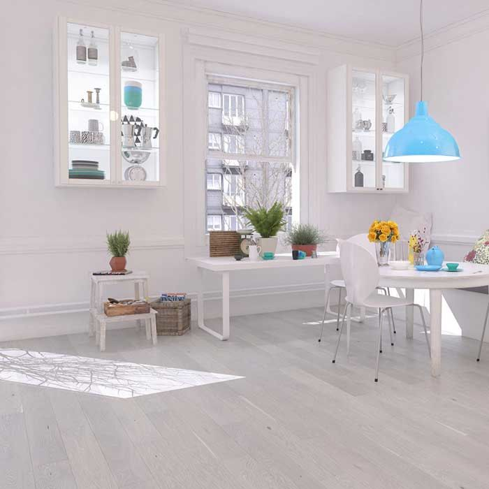 Skaben engineered wood flooring Premium 1-plank wideplank oak ambience extra matt sealed grey white brushed M4V