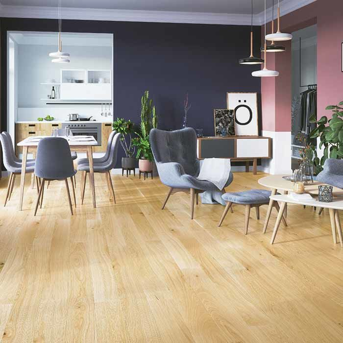 Skaben engineered wood flooring Premium 1-plank wideplank oak Ambience natural oiled raw wood look brushed M4V