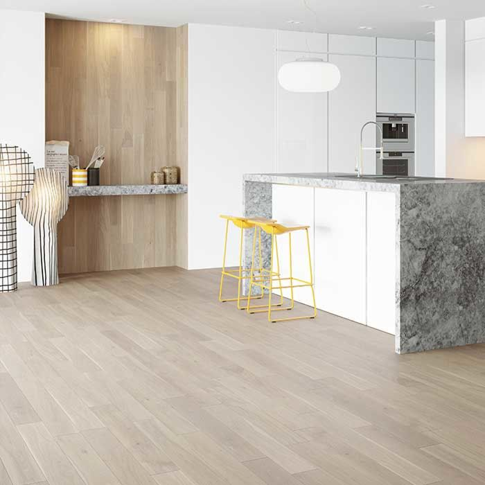 Skaben engineered wood flooring Premium 1-plank wideplank oak Ambience natural oiled white brushed M4V