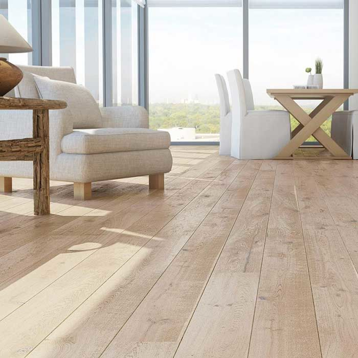 Skaben engineered wood flooring Premium 1-plank wideplank oak Rustic natural oiled white dark brushed 2V
