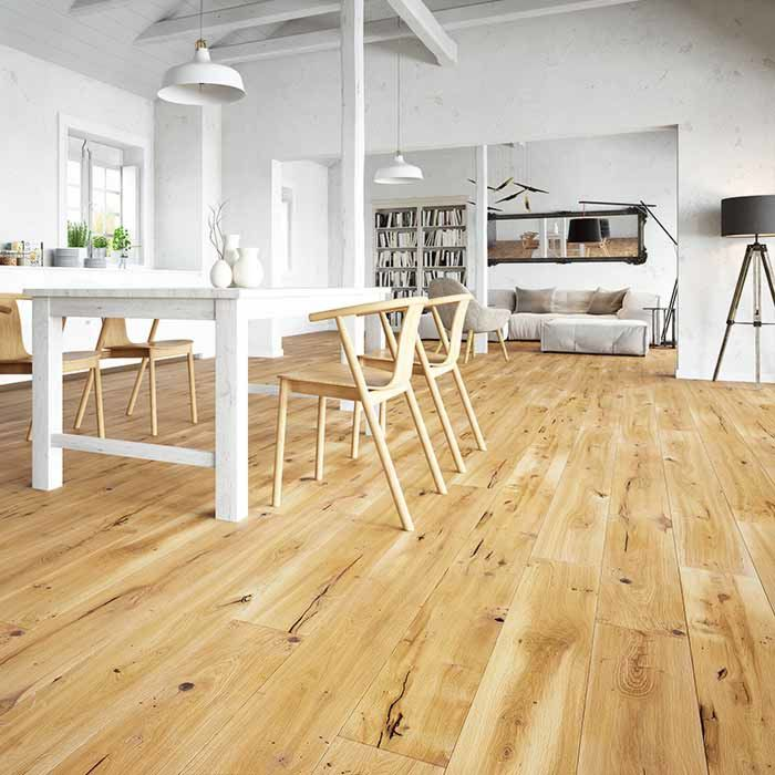 Skaben Parquet Premium 1-strip wide plank Oak Unique naturally oiled brushed 4V 1,80 m