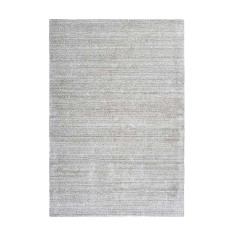 Wollteppich Handgefertigt Silber Elfenbein MODERN rechteckig Höhe 17 mm
