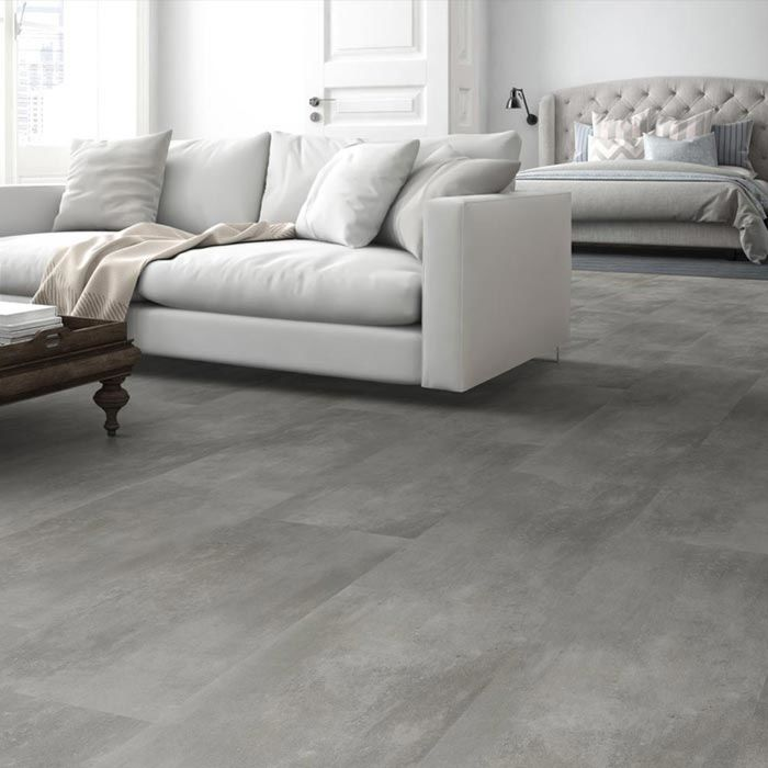Skaben Vinylboden Aktionsware Cement Natural Fliese zum Klicken