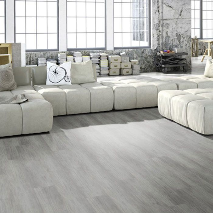 Skaben Vinyl Floor solid Life Click 55 Mountain Oak Grey 1-plank wideplank 4V to click