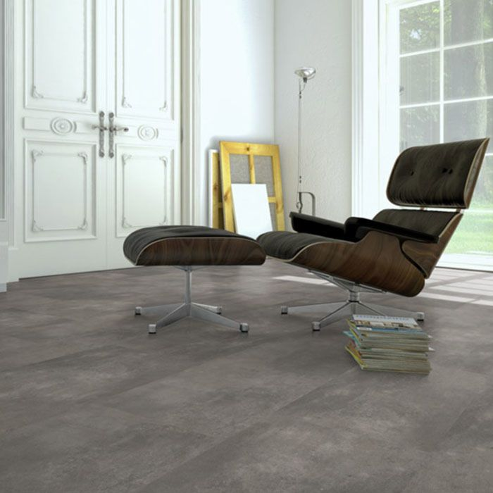 Skaben vinyl floor solid Life Click 55 cement natural tile 4V click here