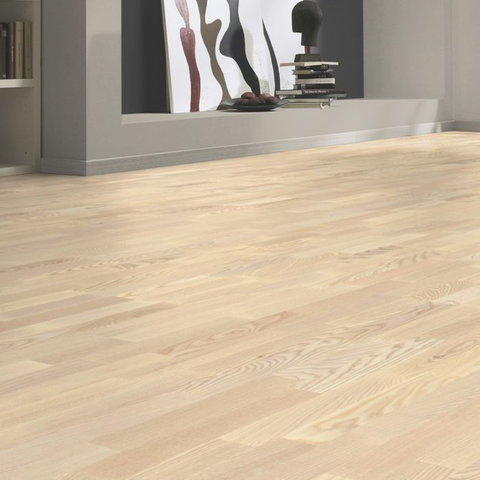 Tarkett Parquet Parquet Shade Natural Ash Linen white 3-strip
