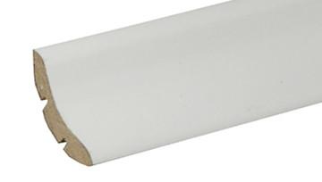 Elegante weisse Hohlkehlleiste 26x26 foliert streichbar