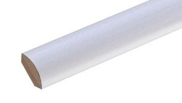 Viertelstab weiß 14x14 mm foliert